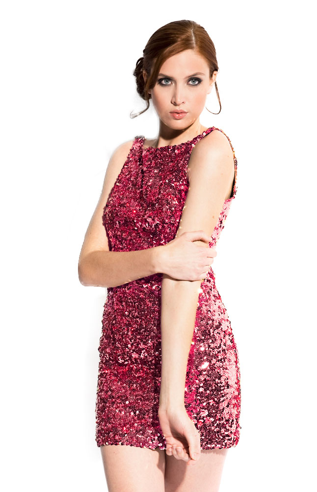 Gusso Sleeveless Sequined Dress