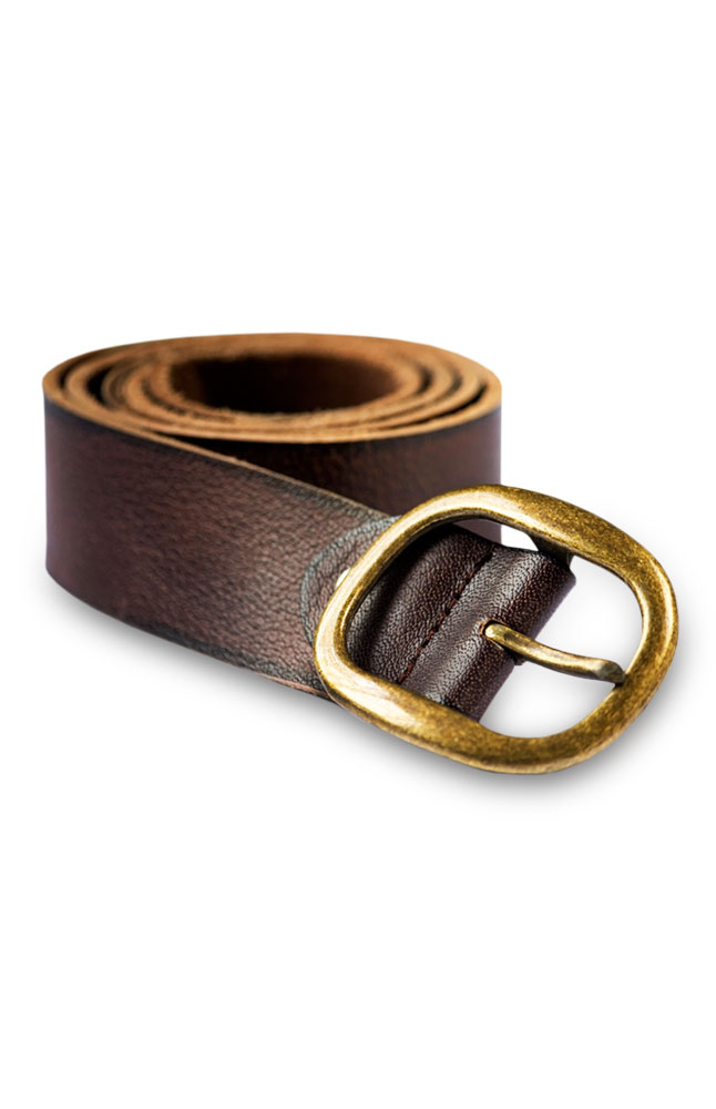 Borsati Chocolate-Colored Leather Belt