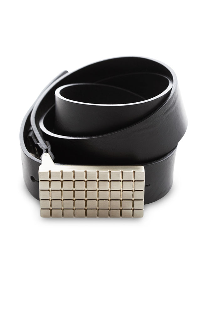 Versatil Black Leather Belt