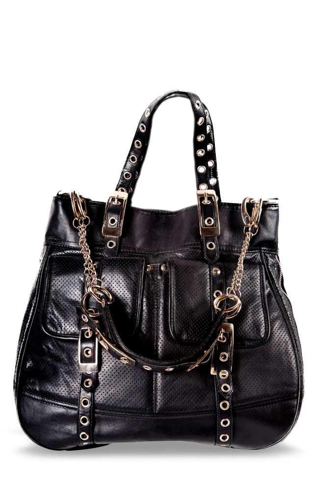Albini Fashionable Black Leather Bag