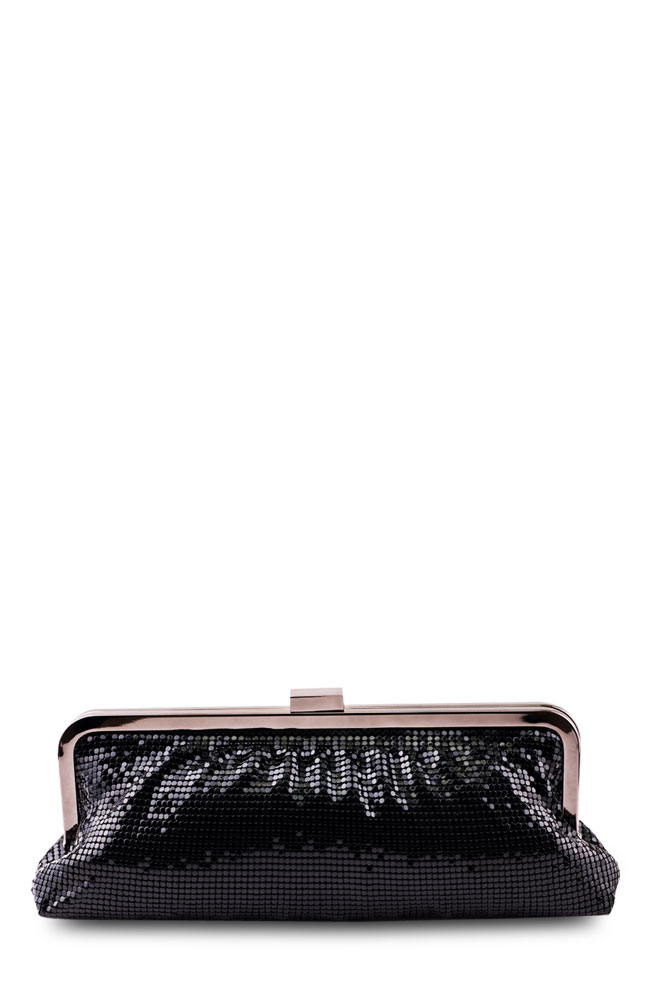 Albini Black Sequined Clutch Purse
