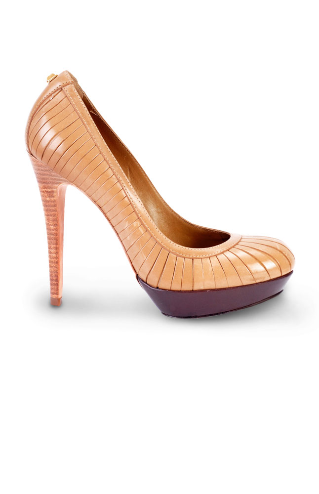 Synergy Brown Leather Stiletto Pumps