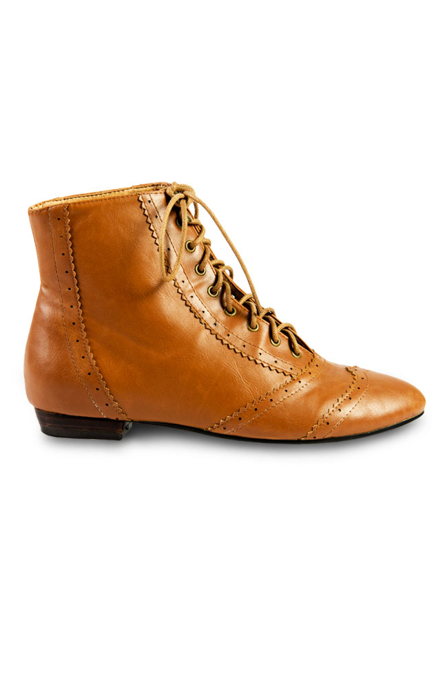 Synergy Brown Laced Ankle Boots