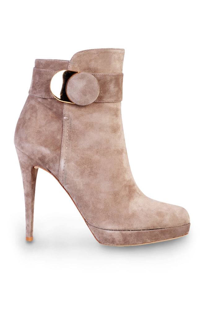 Mayflower Brown Microsuede Stiletto Mid-Calf Boot