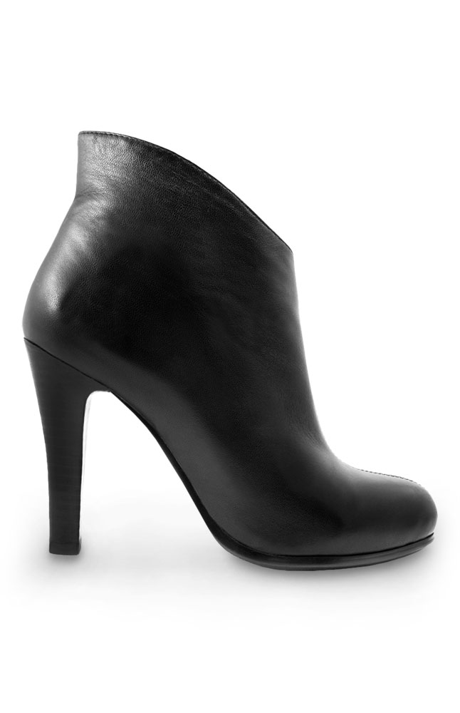 Mayflower Black Leather Stiletto Boots