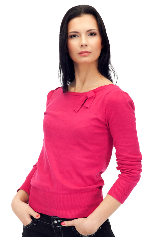 Albini Casual Top in Shocking Pink