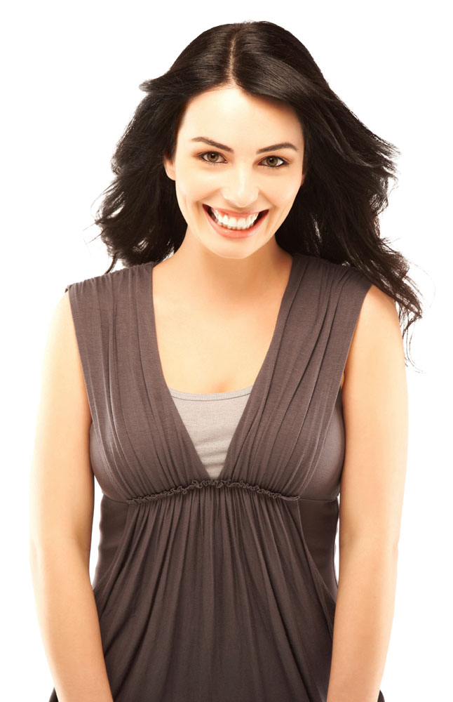 Gusso Brown Ruched Top with Bodice