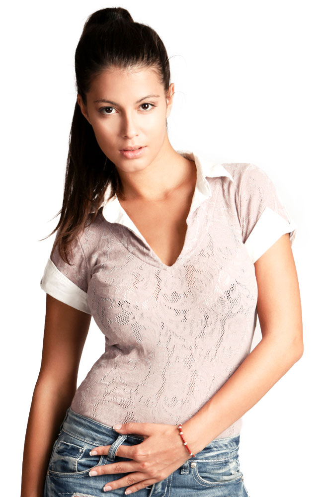 Gusso Polyester Printed Top